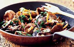 chicken and wild mushroom fricassee